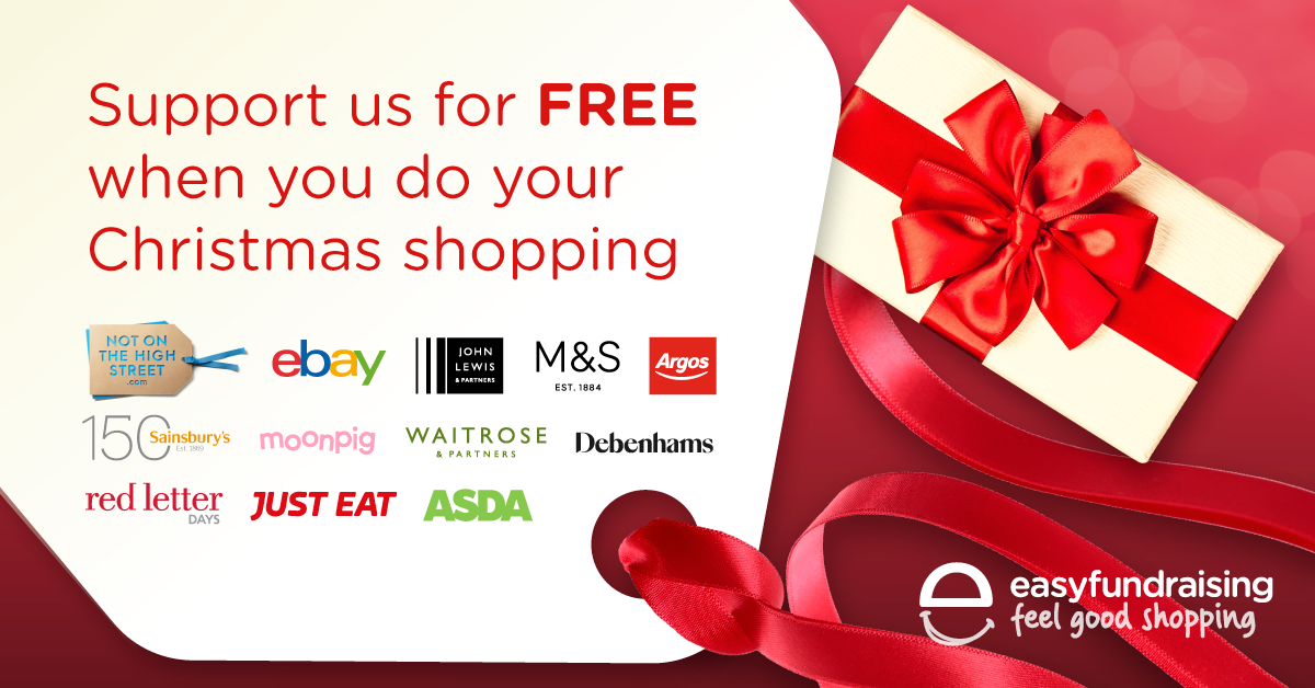 Christmas Shopping?  – help us raise money at the same time.